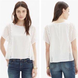 Madewell White Floatweave Medium Top Shirt